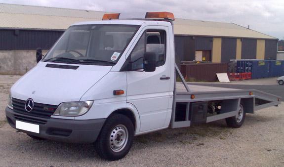 Beavertail Recovery Truck Cat Transporter Sprinter 311