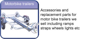 Motorcycle trailer accessories
