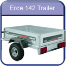 Erde 102 slightly larger trailer with 500kg carrying capacity, 10 inch wheels