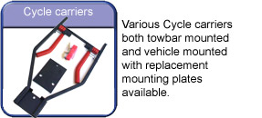 Towing and Trailers ltd Worksop Notts near Retford bicycle cycle bike carrier for towbar or rear of car