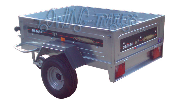 Indespension Daxara DX 147 trailer with jockey wheel