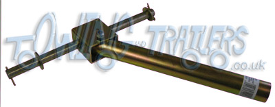 Double dumbell side roller bracket with 34mm � x 300mm pole