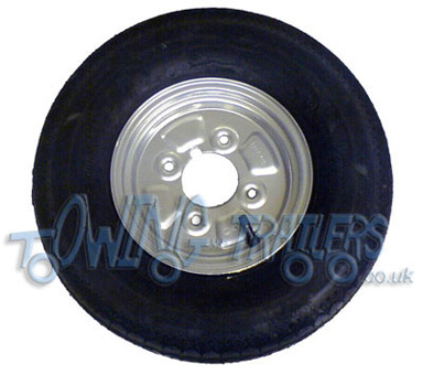 400 x 8 4ply trailer tyre with 4 stud 4